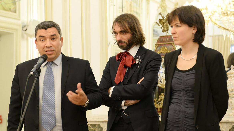 Cédric Villani, mathématicien de renom, en visite à Alès