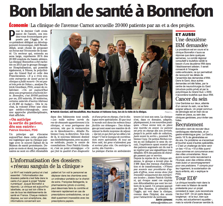 Café croissance Bonnefon Midi Libre