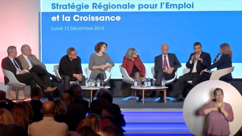 Participation à la présentation de la Stratégie Régionale pour l'Emploi et la Croissance